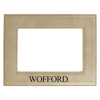 Wofford College-Velour Picture Frame 4x6-Tan