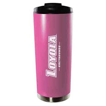 Loyola University Maryland-16oz. Stainless Steel Vacuum Insulated Travel Mug Tumbler-Pink