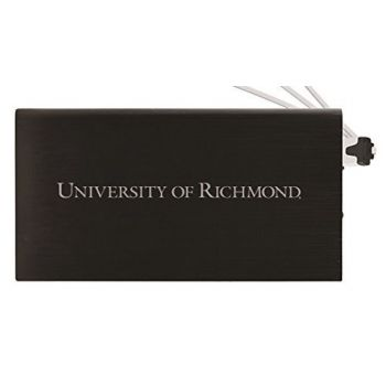 8000 mAh Portable Cell Phone Charger-University of Richmond -Black