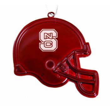 North Carolina State University - Chirstmas Holiday Football Helmet Ornament - Red