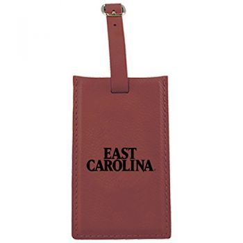 East Carolina University-Leatherette Luggage Tag-Burgundy