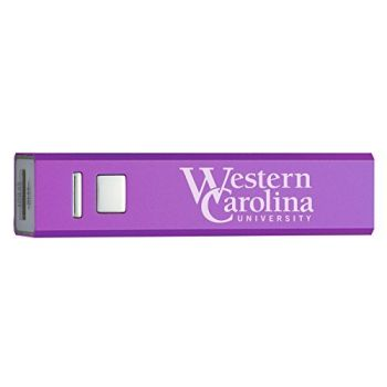Western Carolina University - Portable Cell Phone 2600 mAh Power Bank Charger - Purple