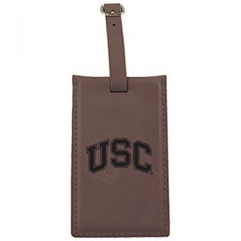 University of Southern California-Leatherette Luggage Tag-Brown