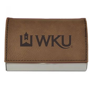 Velour Business Cardholder-Western Kentucky University-Brown