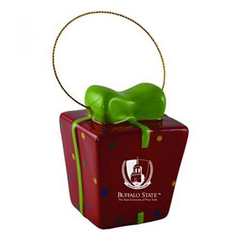 Buffalo State University - The State University of New York-3D Ceramic Gift Box Ornament