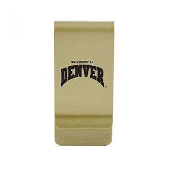 University of Delaware|Money Clip with Contemporary Metals Finish|Solid Brass|High Tension Clip to Securely Hold Cash, Cards and ID's|Silver