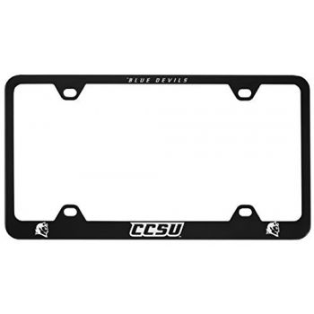 Central Connecticut University-Metal License Plate Frame-Black