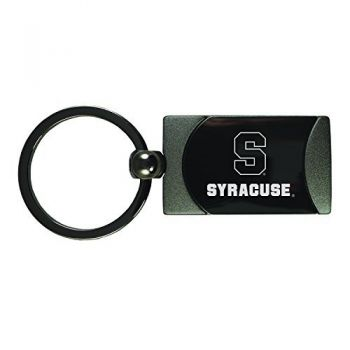 Syracuse University-Two-Toned Gun Metal Key Tag-Gunmetal