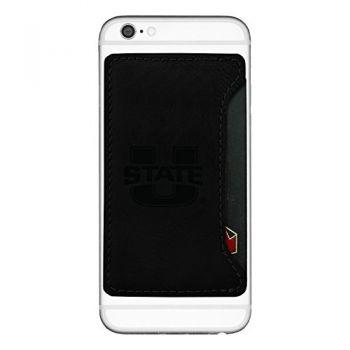 Utah State University-Cell Phone Card Holder-Black