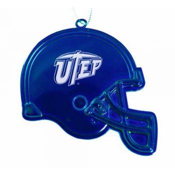 University of Texas at El Paso - Christmas Holiday Football Helmet Ornament - Blue
