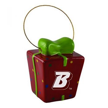 Boise State University-3D Ceramic Gift Box Ornament