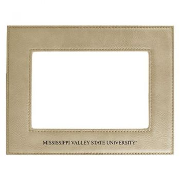 Mississippi Valley State University-Velour Picture Frame 4x6-Tan