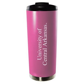University of Central Arkansas-16oz. Stainless Steel Vacuum Insulated Travel Mug Tumbler-Pink