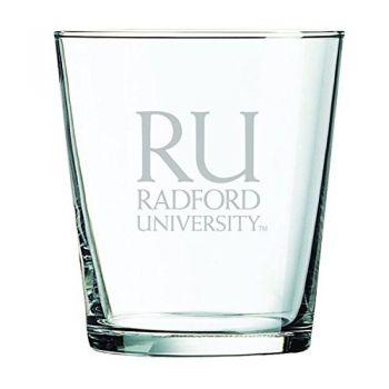 Radford University -13 oz. Rocks Glass
