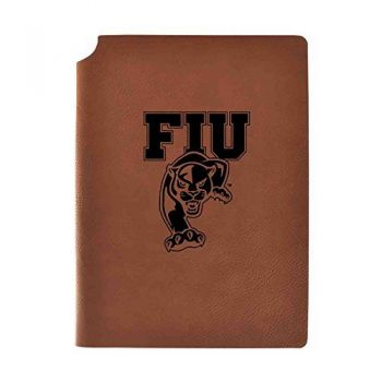 Florida International University Velour Journal with Pen Holder|Carbon Etched|Officially Licensed Collegiate Journal|