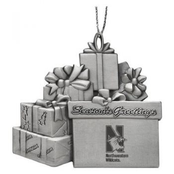 Northwestern University - Pewter Gift Package Ornament
