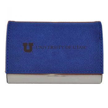 Velour Business Cardholder-University of Utah-Blue