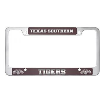 Texas Southern University -Metal License Plate Frame-Burgundy