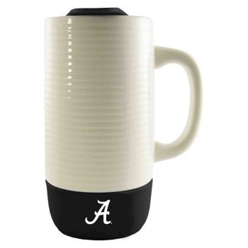 University of Alabama in Huntsville -Ceramic Tumbler with Silicone Base-18 oz.-Black