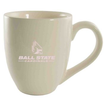 Ball State University -16 oz. Bistro Solid Ceramic Mug-Cream