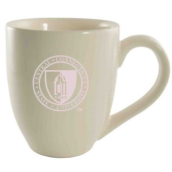 Central Connecticut University-16 oz. Bistro Solid Ceramic Mug-Cream