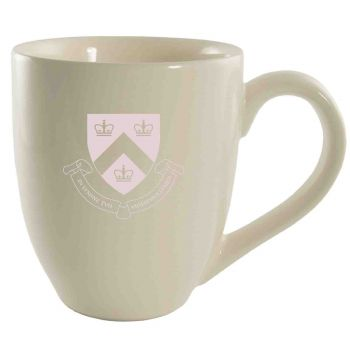Columbia University -16 oz. Bistro Solid Ceramic Mug-Cream