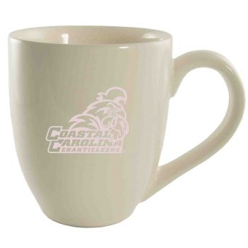 Coastal Carolina University -16 oz. Bistro Solid Ceramic Mug-Cream