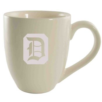 Duquesne University -16 oz. Bistro Solid Ceramic Mug-Cream