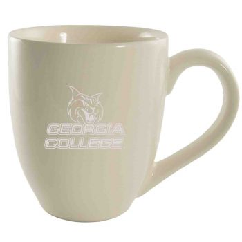 Georgia College-16 oz. Bistro Solid Ceramic Mug-Cream