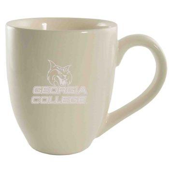 Georgia College-16 oz. Bistro Solid Ceramic Mug-Cream