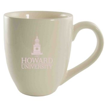 Howard University -16 oz. Bistro Solid Ceramic Mug-Cream