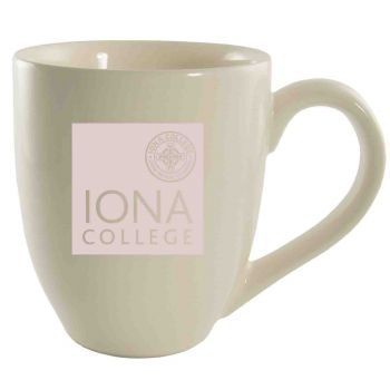 Iona College-16 oz. Bistro Solid Ceramic Mug-Cream