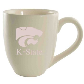 Kansas State University -16 oz. Bistro Solid Ceramic Mug-Cream