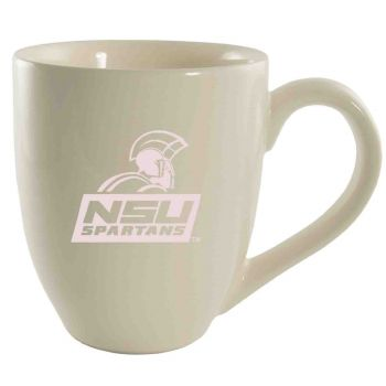 Norfolk State University -16 oz. Bistro Solid Ceramic Mug-Cream