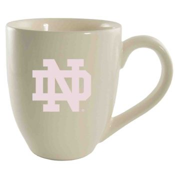 University of Notre Dame-16 oz. Bistro Solid Ceramic Mug-Cream