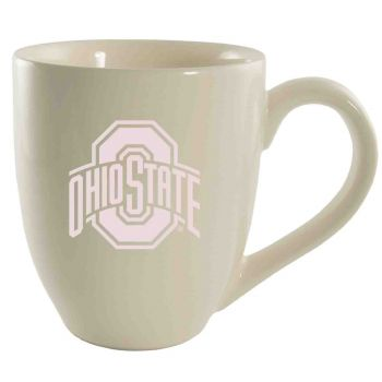 Ohio State University -16 oz. Bistro Solid Ceramic Mug-Cream