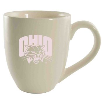 Ohio University -16 oz. Bistro Solid Ceramic Mug-Cream