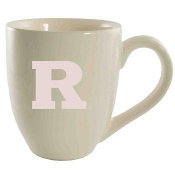 Rutgers University -16 oz. Bistro Solid Ceramic Mug-Cream