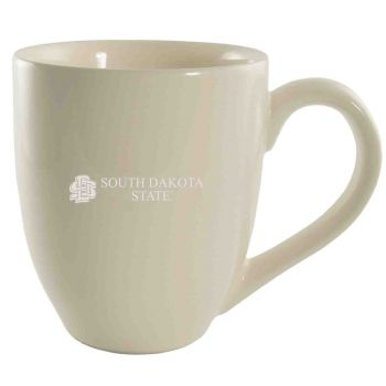 South Dakota State University -16 oz. Bistro Solid Ceramic Mug-Cream
