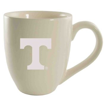 University of Tennessee -16 oz. Bistro Solid Ceramic Mug-Cream