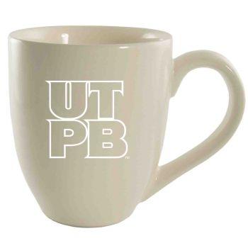 The University of Texas at The Permian Basin-16 oz. Bistro Solid Ceramic Mug-Cream