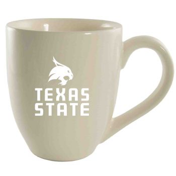 Texas State University -16 oz. Bistro Solid Ceramic Mug-Cream