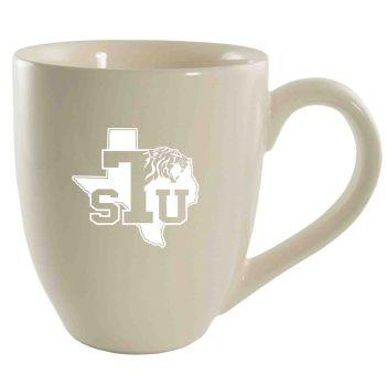 Texas Southern University -16 oz. Bistro Solid Ceramic Mug-Cream