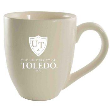 University of Toledo -16 oz. Bistro Solid Ceramic Mug-Cream