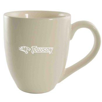 Towson University -16 oz. Bistro Solid Ceramic Mug-Cream