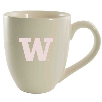University of Washington-16 oz. Bistro Solid Ceramic Mug-Cream
