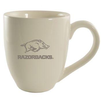 University of Arkansas-16 oz. Bistro Solid Ceramic Mug-Cream
