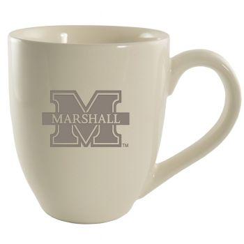 Marshall University -16 oz. Bistro Solid Ceramic Mug-Cream