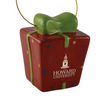 Howard University-3D Ceramic Gift Box Ornament