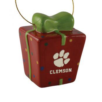 Clemson University-3D Ceramic Gift Box Ornament